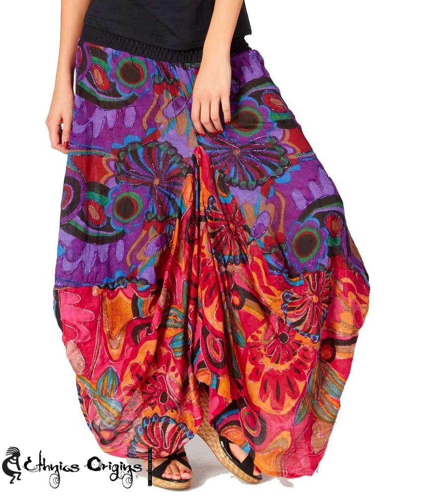 Jupe longue et colorée style ethnique