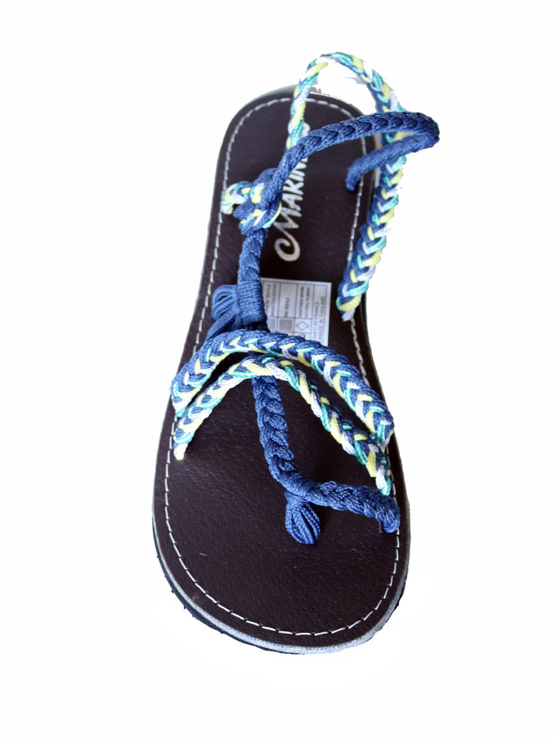 a0834663cf64 Sandale ETHNIQUE ORIGINALE NAÏA Flat   Blue-Yellow