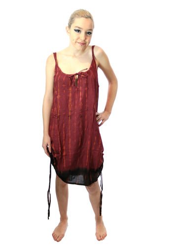 Robe Tie & Die tons bordeaux