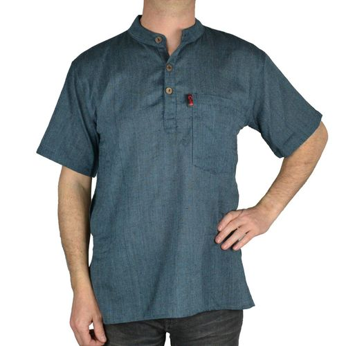 SHIRT UNI SHORT SLEEVE - gray-blue (ba07)
