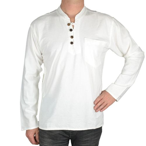 Chemise indienne homme femme blanche uni