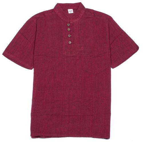 CHEMISE ROUGE MANCHE COURTE